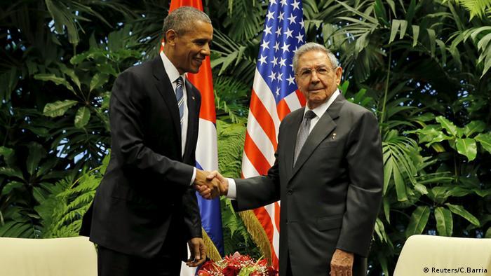 Obama y Raúl Castro en Cuba