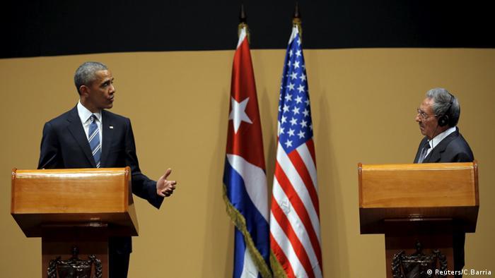 Obama vê fim do embargo, e Castro nega haver presos políticos
