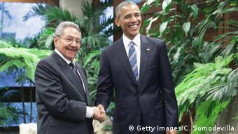 Raul Castro meets Barack Obama in Havana (Getty Images/C. Somodevilla)