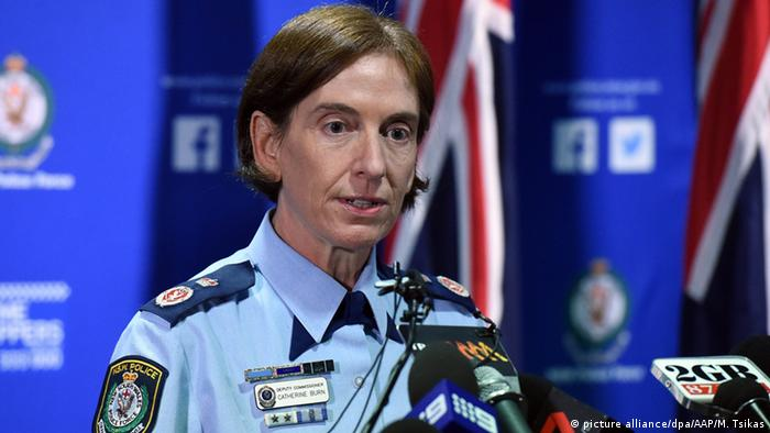 Police Deputy Commissioner Catherine Burn speaks to the media at a press conference in Sydney picture alliance/dpa/AAP/M. Tsikas