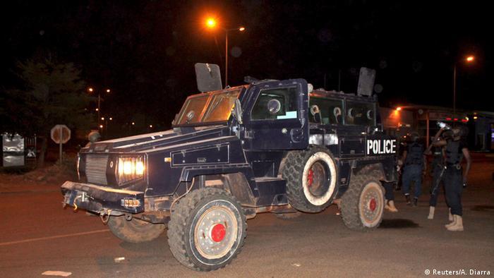 Armored police vehicle in Bamako REUTERS/Adama Diarra