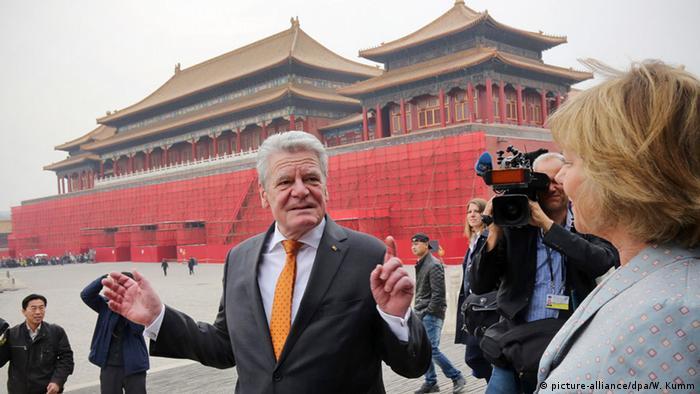China Peking Joachim Gauck Besuch Verbotene Stadt.