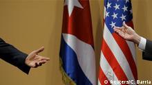 Kuba Treffen Obama Castro Symbolbild Beziehungen USA Kuba