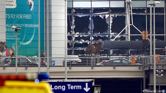 Belgien Brüssel Flughafen Zaventem Explosion Fenster