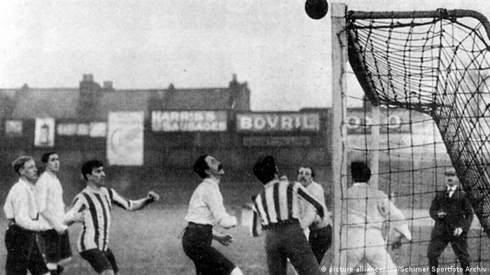 England 1909 Fußballspiel England - Deutschland