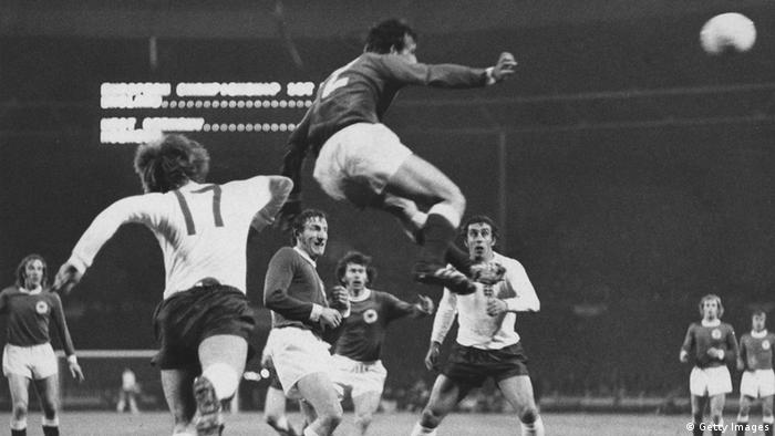 England - West Germany at Wembley, 1972