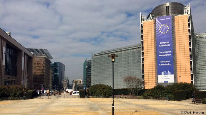 Belgien Brüssel EU-Kommission Gebäude Polizei
