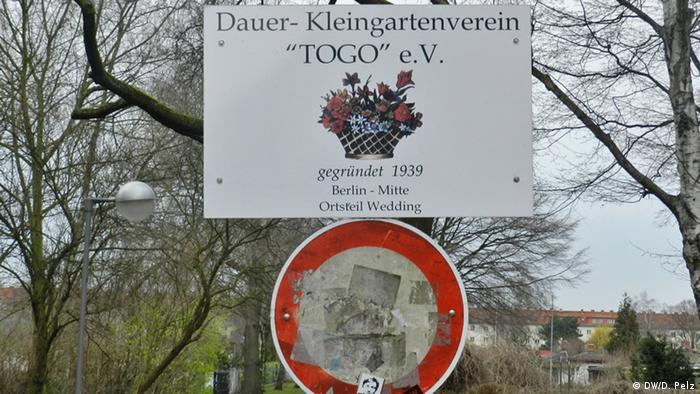 A sign reading Togo (c) DW/D. Pelz