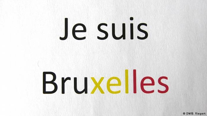 Belgien Je suis Bruxelles Schriftzug