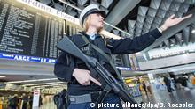 Deutschland Flughafen Frankfurt am Main verstärkte Sicherheitsmaßnahmen