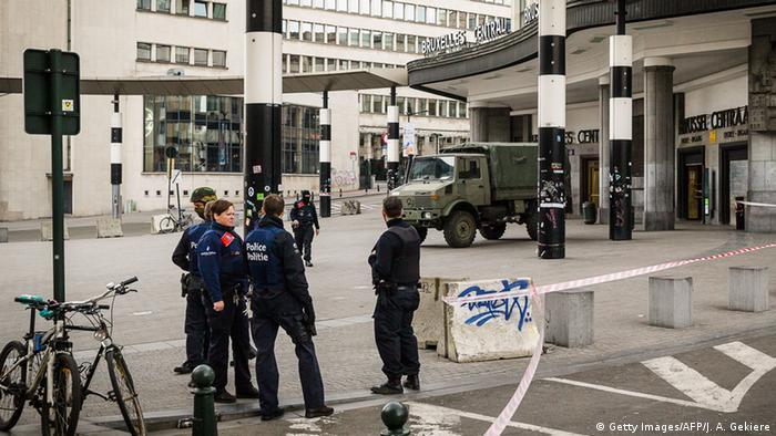 Belgien Hauptbahnhof in Brüssel verstärkte Sicherheitsmaßnahmen