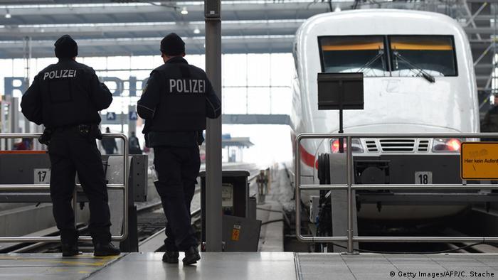 Deutschland Hauptbahnhof in München verstärkte Sicherheitsmaßnahmen