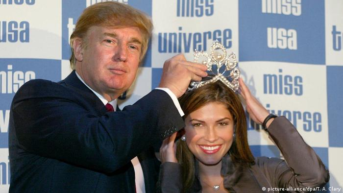 USA New York Donald Trump , Justine Pasek