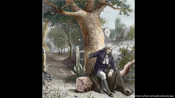 Isaac Newton und der Apfelbaum (Foto: picture-alliance/Isadora/Leemage)