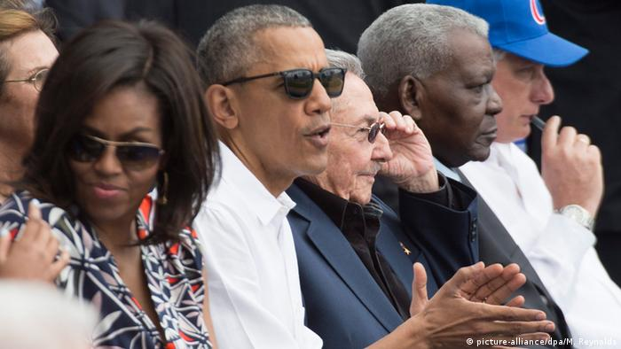Kuba US Präsident Barack Obama Baseball Match