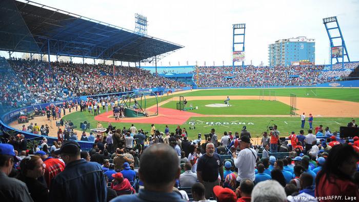Kuba US Präsident Barack Obama Baseball Match