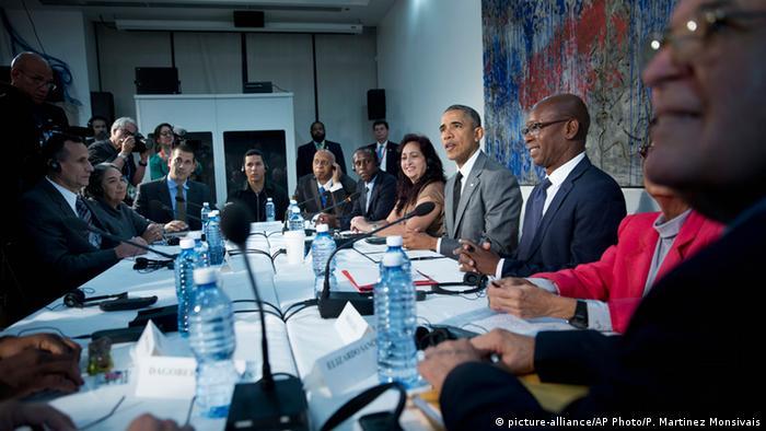Kuba US Präsident Barack Obama Treffen mit Dissidenten