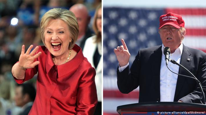Bildkombo Hillary Clinton Donald Trump Vorwahlen USA Arizona
