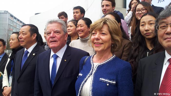 Joachim Gauck in Shanghai an Tonji Uni