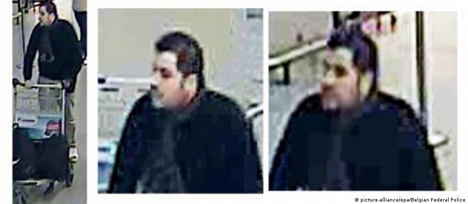Imagem divulgada pelas autoridades belgas mostra homem identificado como sendo Ibrahim El Bakraoui