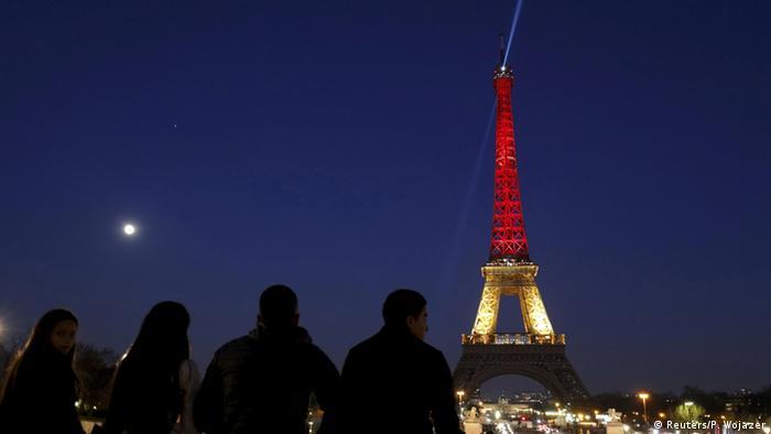 Belgien Anteilnahme Paris Eiffelturm