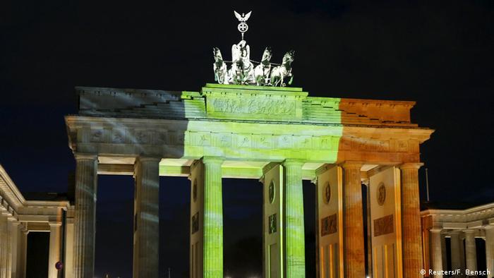 Belgien Anteilnahme Berlin Brandenburger Tor
