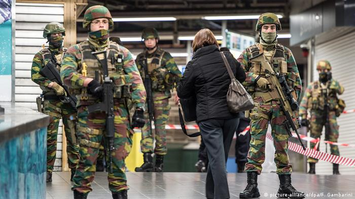 security checks at Brussels central station
