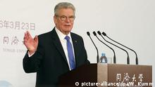 Bundespräsident Joachim Gauck in China