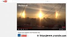 Screenshot YouTube The Telegraph Drei Sonnen in Russland