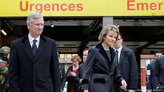 King Philippe visiting victims in hospital