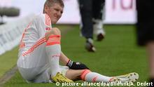 Deutschland Bastian Schweinsteiger Knieschmerzen im Spiel Eintracht Frankfurt vs. FC Bayern München