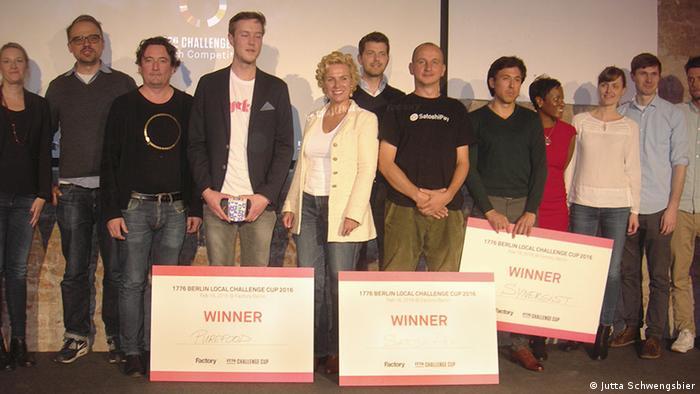 Deutschland Preisverleihung Factory Startup Pitch Hungerhilfe