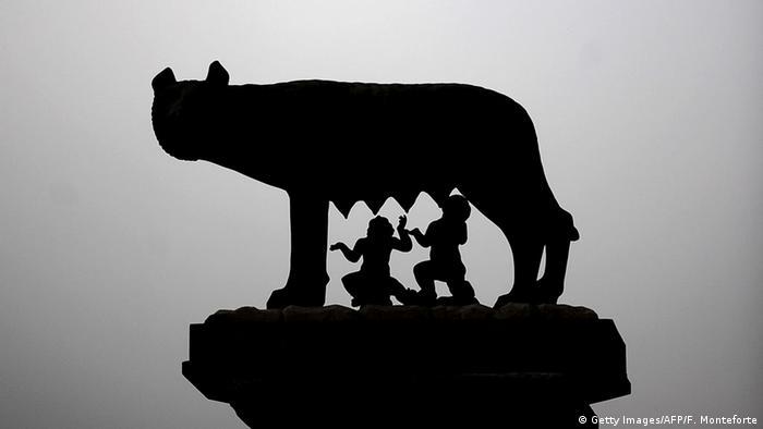 Simbol Rimskog carstva, Romul i Rem sišu mlijeko vučice