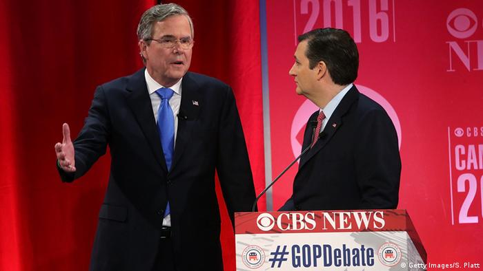 USA Vorwahl Republikaner Jeb Bush & Ted Cruz