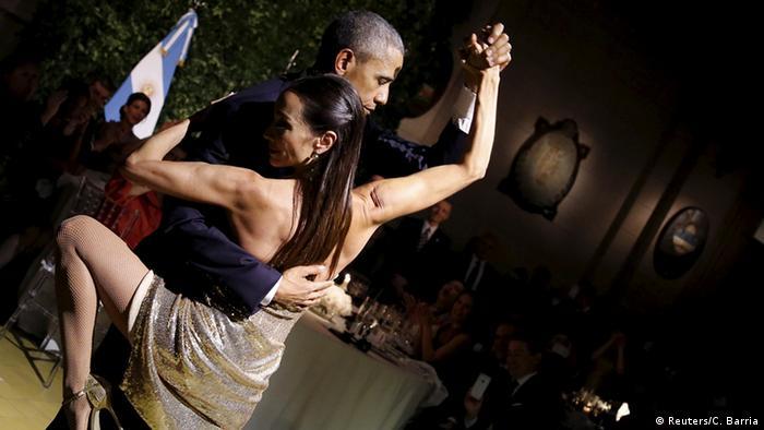Argentinien Barack Obama tanzt Tango