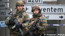 24.03.2016 Belgian troops control a road leading to Zaventem airport following Tuesday's airport bombings in Brussels, Belgium, March 24, 2016. REUTERS/Charles Platiau Copyright: Reuters/C. Platiau
