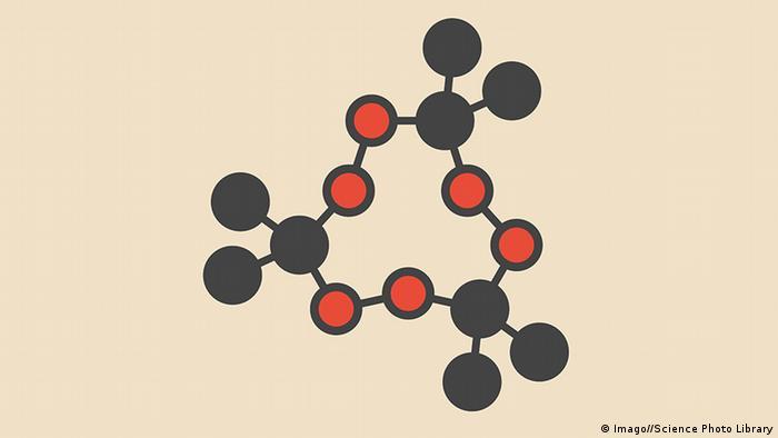 Molecular diagram for TATP