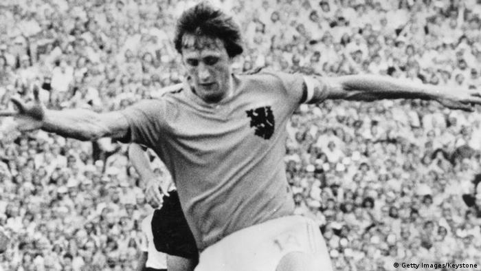 Fußball-Legende Johan Cruyff in Aktion. Foto: Getty