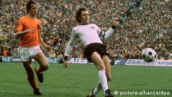Johan Cruyff Beckenbauer WM 1974 - Finale Deutschland - Niederlande