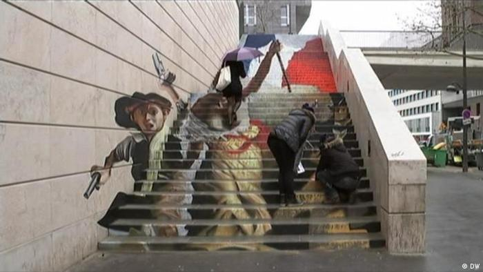 Street art on stairs (Photo: DW)