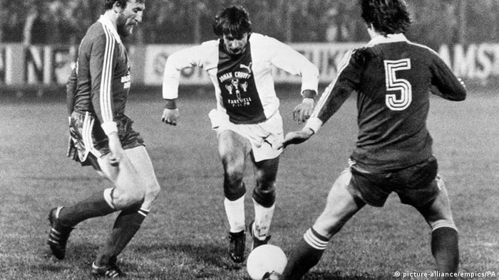 Johan Cruyff Ajax gegen Bayern in Amsterdam