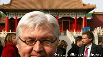 Steinmeier in China Verbotene Stadt in Peking