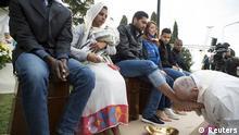 Rom - Papst Fußwaschung Gründonnerstag