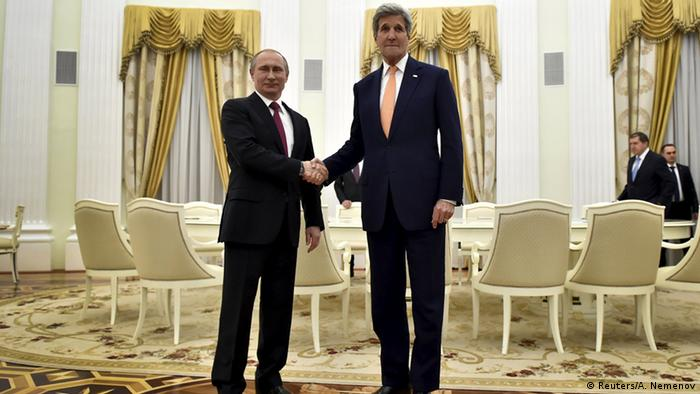 Kerry and Putin push for Syria truce, draft constitution 'by August'