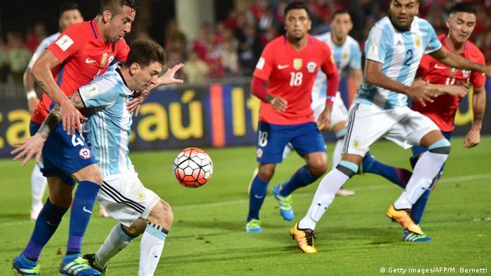 Fußball WM 2018 Qualifikation - Chile vs. Argentinien