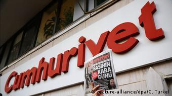 Türkei Istanbul Cumhuriyet Protest Pressefreiheit