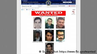 Screenshot FBI Website