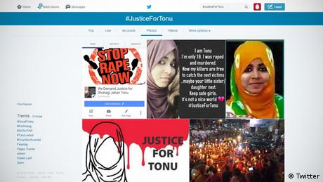 Screenshot Twitter Tonu Webprotest Justice for Tonu (Twitter)