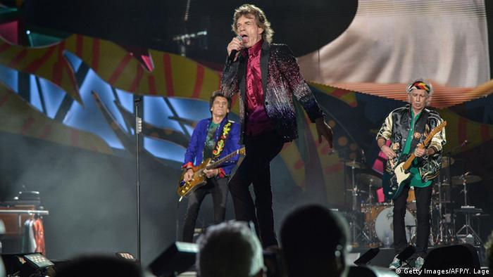 British singer and frontman of rock band The Rolling Stones Mick Jagger performs during a concert at Ciudad Deportiva in Havana, Cuba © Getty Images/AFP/Y. Lage