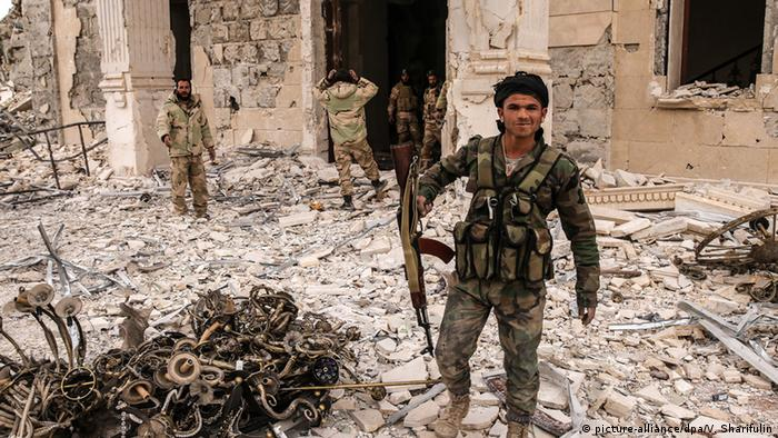Syrian army soldiers have taken over large parts of Palmyra